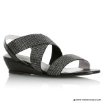 Sparkle Elastic Strap Low Wedge-001