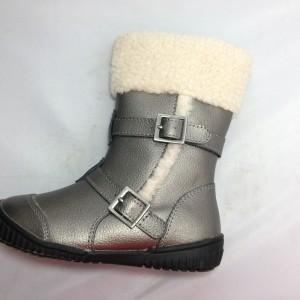 Boot trẻ em VNXK ORCHESTRA gót bệt cổ cao màu bạc TE088.BA.27