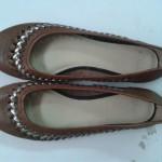 Giày bệt nữ CLARKS màu tim thâm GB89