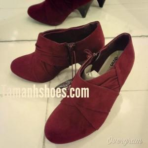 Giày nữ VNXK GOOD FOR THE SOLE gót thấp màu đỏ BB60