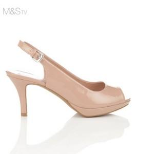 Sandal nữ M&S cao gót màu nude X86