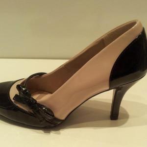 Giày gót thấp VNXK M&S da bóng